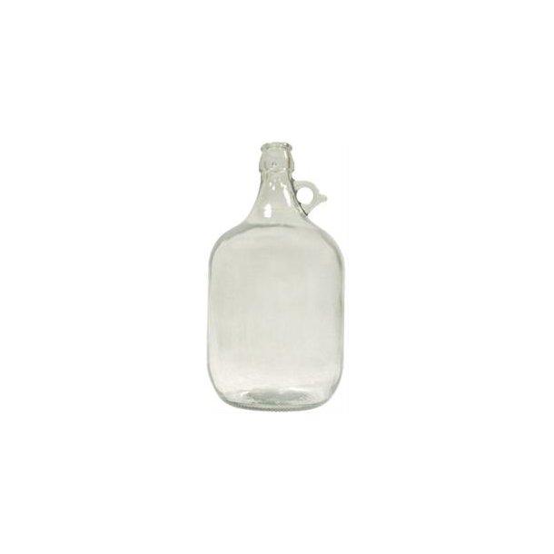 5 liter glasballon i klart glas