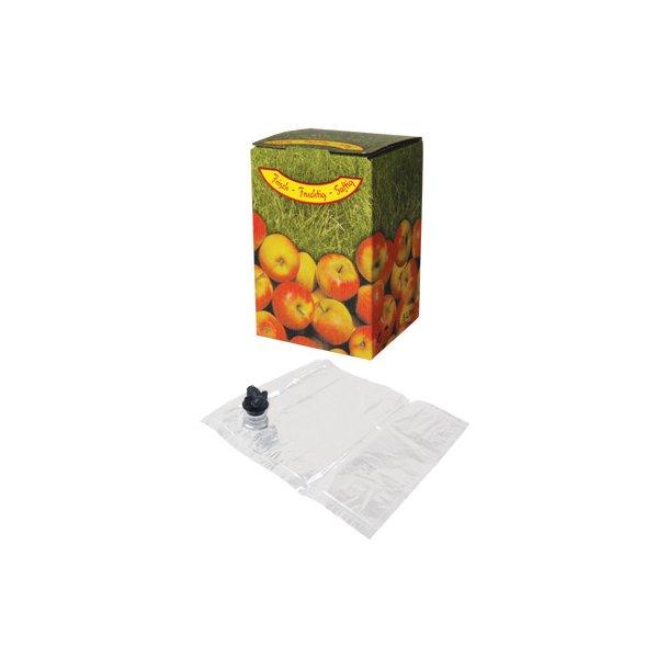 BiB sæt til 10 liter frugtsaft, inkl. plastpose og æske