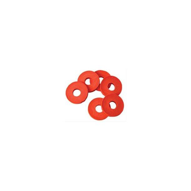 Rødt gummi til patentprop, 20 stk.