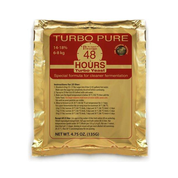 Turbogær 48, (ca. 18% alkohol)
